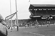 Galway goalie saves the ball during the All Ireland Senior Gaelic Football Championship Final Dublin V Galway at Croke Park on the 22nd September 1974. Dublin 0-14 Galway 1-06.