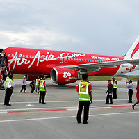 Air Asia carrier at low cost terminal, Sepang ,Malaysia