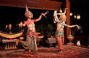 Traditional Lanna dance performance at Le Grand Lanna restaurant, Mandarin Oriental Dhara Dhevi Hotel, Chiang Mai, Thailand.