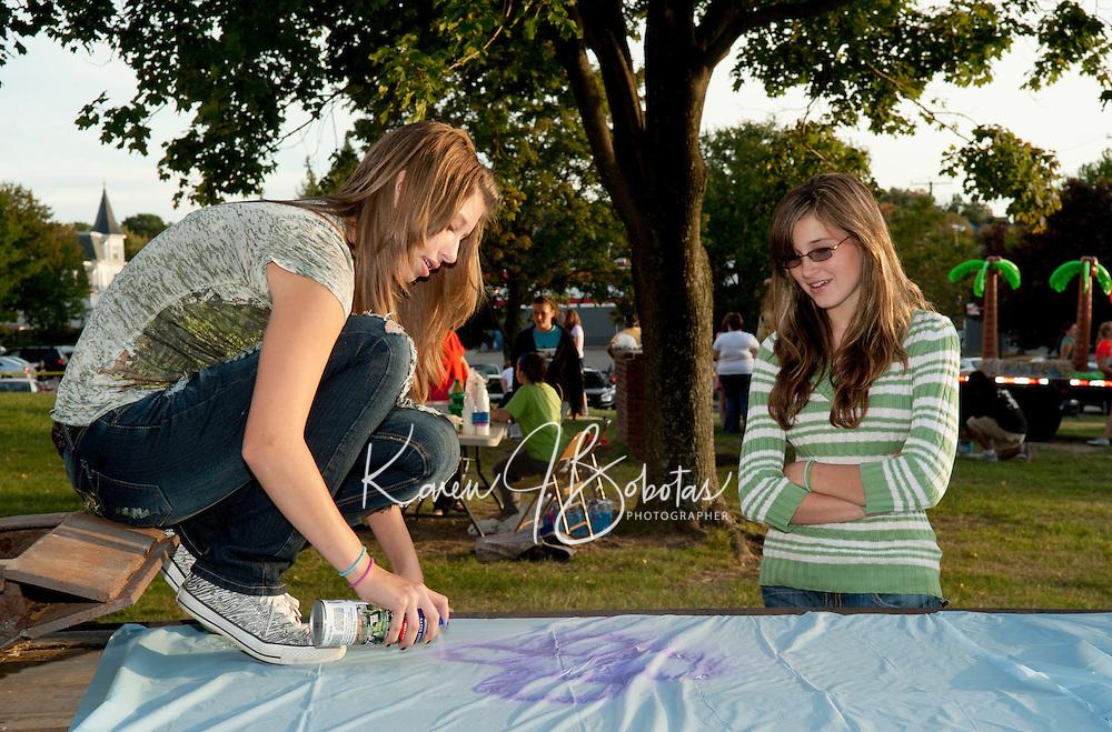 Laconia High School Homecoming festivities September 23, 2010.
