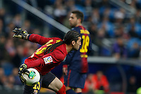 30.01.2013 SPAIN -  Copa del Rey 12/13 Matchday 1/4  match played between Real Madrid CF vs  F.C. Barcelona (1-1) at Santiago Bernabeu stadium. The picture show Jose Manuel Pinto Colorado (Spanish goalkeeper of Barcelona)