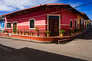 09 JANUARY 2007 - GRANADA, NICARAGUA:  A house in Granada, Nicaragua. Granada, founded in 1524, is one of the oldest cities in the Americas. Granada was relatively untouched by either the Nicaraguan revolution or the Contra War, so its colonial architecture survived relatively unscathed. It has emerged as the heart of Nicaragua's tourism revival.  Photo by Jack Kurtz