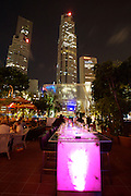 Nightlife along Singapore River. Bar Opiume.
