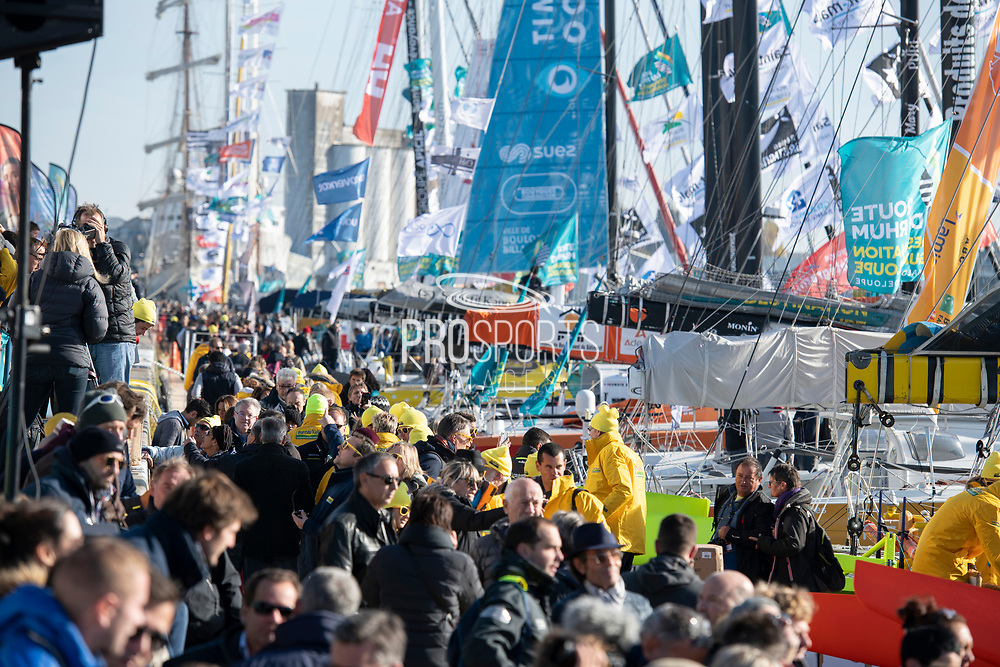 Ambiance during the Route du Rhum 2018, on November 3rd, in Saint Malo, France, before the Route du Rhum sailing race to start on November 4th 2018 - Photo Olivier Blanchet / ProSportsImages / DPPI