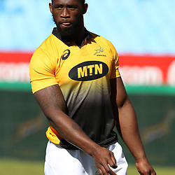Siya Kolisi  during the  South African Captain's Run Loftus Versfeld stadium, Pretoria South Africa. 9th June 2017(Photo by Steve Haag Sports)