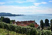 Blick vom Kloster Birnau auf den Bodensee, Überlinger See, Baden-Württemberg, Deutschland