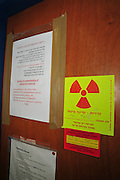 Research Laboratory radiation warning sign