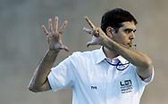 Gomez - Referee<br /> FRA - CRO France (white cap) Vs. Croatia (blue cap)<br /> LEN Europa Cup Men 2018 finals<br /> Water Polo, Pallanuoto<br /> Rijeka, CRO Croatia<br /> Day01<br /> Photo &copy; Giorgio Scala/Deepbluemedia/Insidefoto