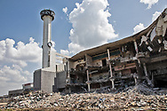 New Orleans July 7, Times-Picayune Building in the process of being demolished.