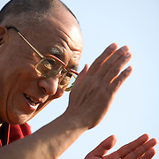 The Dalai Lama speaks before guests on the West Front of the US Capitol Wednesday, Oct. 17, 2007. ..Photo by Khue Bui