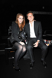 PRINCESS BEATRICE OF YORK and DAVE CLARK at the ISSA show as part of London Fashion Week 2010 held at Somerset House, The Strand, London on 23rd February 2010.