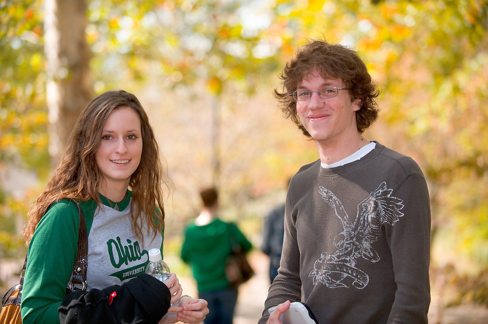 19074Students on Campus Fall..Caitlin King and Brenton McConaghy