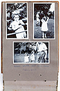 photo album page with images from a school sport day 1950