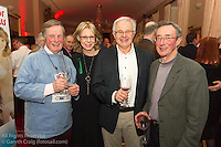 (l to r) Richard Lovegrove, Ann Kirwan, Tony Kirwan, and John Dunlop at the reunion night to celebrate 50 years of the Irish Fireball Class, held at the Royal St George YC.