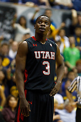 Jan 14, 2012; Berkeley CA, USA; Utah Utes guard Anthony Odunsi (3) before a free throw against the California Golden Bears during the second half at Haas Pavilion. California defeated Utah 81-45. Mandatory Credit: Jason O. Watson-US PRESSWIRE