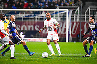 Toifilou MAOULIDA  - 15.12.2014 - Troyes / Nimes - 17e journee Ligue 2<br /> Photo : Fred Porcu / Icon Sport