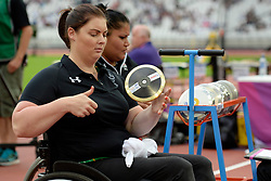 15/07/2017 : Orla Barry, F57, Discus (Women's), at the 2017 World Para Athletics Championships, Olympic Stadium, London, United Kingdom