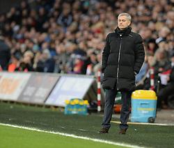Chelsea Manager, Jose Mourinho - Photo mandatory by-line: Alex James/JMP - Mobile: 07966 386802 - 17/01/2015 - SPORT - football - Swansea - Liberty Stadium  - Swansea  v Chelsea  -