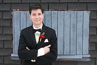Groom on the roof of the Grand Ballroom and Cornerstone Commons in Butler, Pennsylvania.