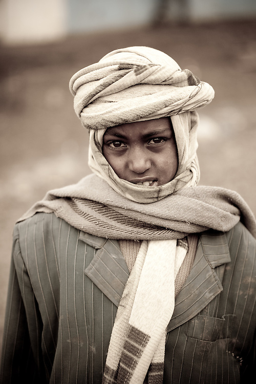 Muslim boy from Mehal Meda on the Guassa Plateau in the Ethiopian Highlands