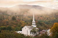 Foggy Fall Morning, Stowe, Vermont