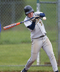 Fluvanna junior Tyler Denby (10) connects on a pitch in action against WMHS.  The Fluvana County High School baseball team faced William Monroe HS at WMHS in Stanardsville, VA on April 15, 2009.  (Special to the Daily Progress / Jason O. Watson)