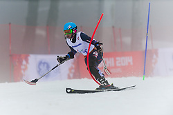 JONES Allison competing in the Alpine Skiing Super Combined Slalom at the 2014 Sochi Winter Paralympic Games, Russia
