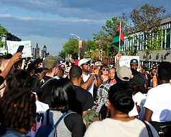 Protestors rally in reaction to the announcement of homicide charges towards police officers in connection with the April 12th death of Freddie Gray on May 2, 2015, in Baltimore, Md. (Photo By / Chris Post)