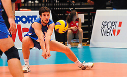 18.09.2011, Stadthalle, Wien, AUT, CEV, Europaeische Volleyball Meisterschaft 2011, Finale, Italien vs Serbien, im Bild Nikola Rosic, (SRB, #19, Libero 1) // during the european Volleyball Championship Final Italy vs Serbia, at Stadthalle, Vienna, 2011-09-18, EXPA Pictures © 2011, PhotoCredit: EXPA/ M. Gruber
