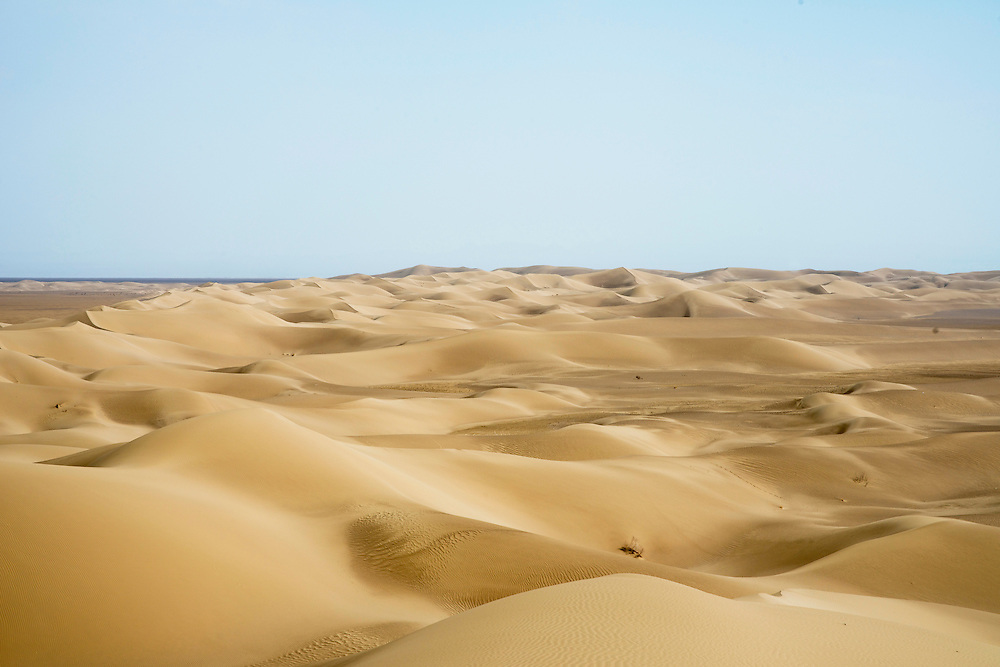 Sand dunes and the desert of central Iran. The average height of sandy dunes are highest between deserts of Iran