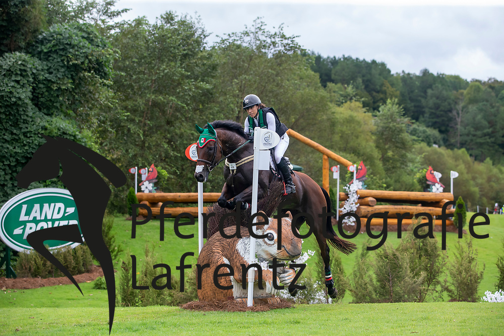 MOGUEL Daniela (MEX), Cecelia<br /> Tryon - FEI World Equestrian Games™ 2018<br /> Vielseitigkeit Teilprüfung Gelände/Cross-Country Team- und Einzelwertung<br /> 15. September 2018<br /> © www.sportfotos-lafrentz.de/Sharon Vandeput