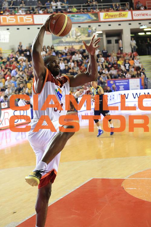 DESCRIZIONE : Roma Lega A 2012-2013 Acea Roma Sutor Montegranaro<br /> GIOCATORE : Gani Lawal<br /> CATEGORIA : equilibrio<br /> SQUADRA : Acea Roma<br /> EVENTO : Campionato Lega A 2012-2013 <br /> GARA : Acea Roma Sutor Montegranaro<br /> DATA : 05/05/2013<br /> SPORT : Pallacanestro <br /> AUTORE : Agenzia Ciamillo-Castoria/M.Simoni<br /> Galleria : Lega Basket A 2012-2013  <br /> Fotonotizia : Roma Lega A 2012-2013 Acea Roma Sutor Montegranaro<br /> Predefinita :