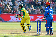 Steve Smith of Australia running while batting during the ICC Cricket World Cup 2019 match between Afghanistan and Australia at the Bristol County Ground, Bristol, United Kingdom on 1 June 2019.