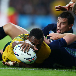 LONDON, ENGLAND - OCTOBER 18: Try for Tevita Kuridrani of Australia during the Rugby World Cup Quarter Final match between Australia v Scotland at Twickenham Stadium on October 18, 2015 in London, England. (Photo by Steve Haag)