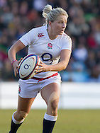Ceri Large in action, England Women v Italy Women in Women's 6 Nations Match at Twickenham Stoop, Twickenham, England, on 15th February 2015. Final score 39-7.