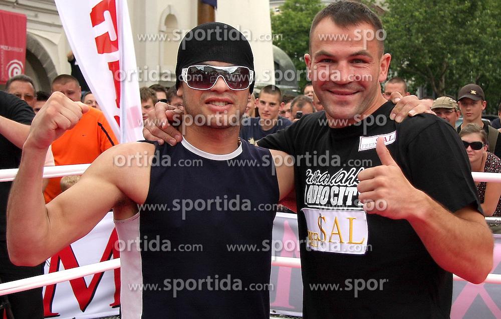 Boxer Jorgeje Miranda and Dejan Zavec - Jan Zaveck, on June 16, 2009, in Ptuj, Slovenia.  (Photo by Marjan Kelner / Sportida)