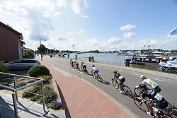 Peloton speed through Maasbracht at Boels Rental Ladies Tour Stage 5 a 141.8 km road race from Stamproy to Vaals, Netherlands on September 2, 2017. (Photo by Sean Robinson/Velofocus)