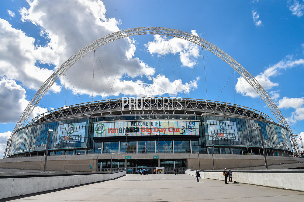 Vanarama big day out The arch of wembley stadium during the Vanarama National League Play Off Final match between Tranmere Rovers and Forest Green Rovers at Wembley Stadium, London, England on 14 May 2017. Photo by Adam Rivers.