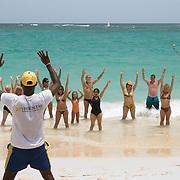 Aerobics Class on the Beach in Punta Cana
