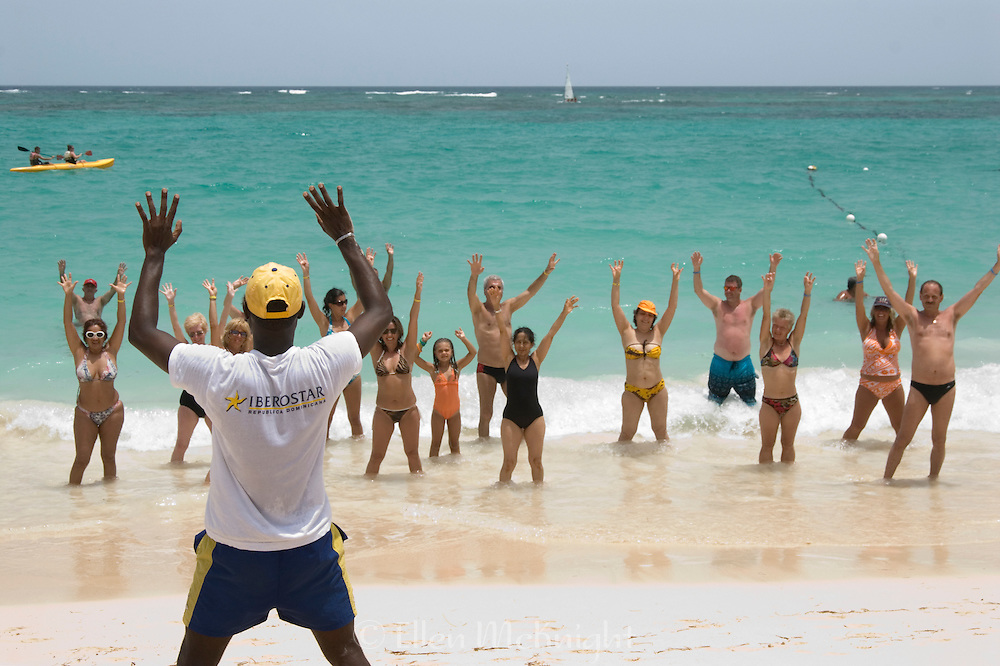 Aerobics Class on the Beach in Punta Cana