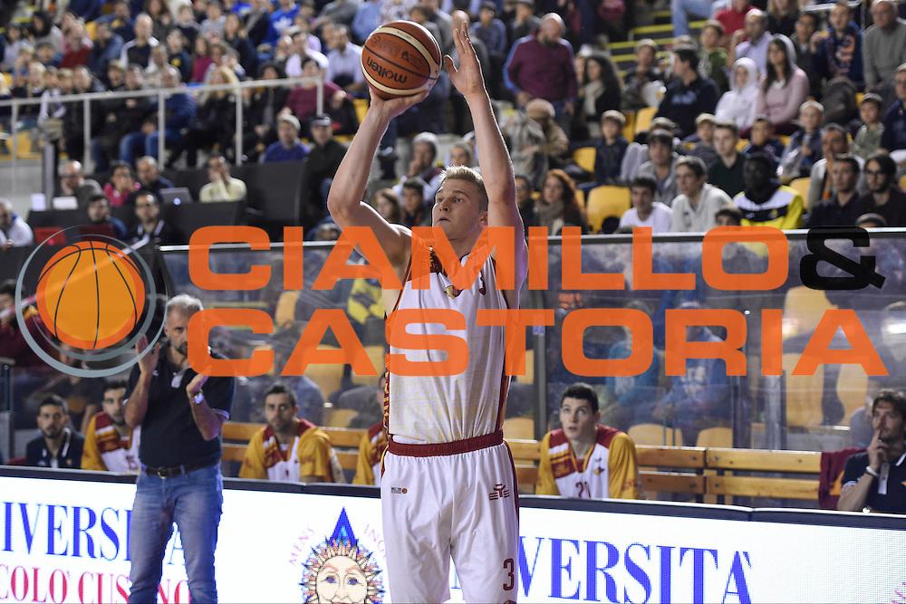 Gabriele Benetti<br /> Unicusano Roma - Benacquista Assicurazioni Latina<br /> Campionato Basket LNP 2016/2017<br /> Roma 06/11/2016<br /> Foto Ciamillo-Castoria