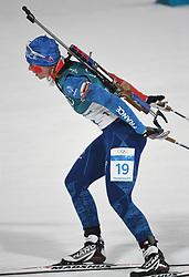 PYEONGCHANG, Feb. 12, 2018  France's Anais Bescond competes during women's 10km pursuit event of biathlon at the 2018 PyeongChang Winter Olympic Games at Alpensia Biathlon Centre in PyeongChang, South Korea, on Feb. 12, 2018. (Credit Image: © Wang Haofei/Xinhua via ZUMA Wire)