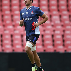 Franco Mostert of the Emirates Lions during the Emirates Lions Captain Run at the Emirates Airlines Park, South Africa. 23 February 2018 (Photo by Steve Haag/UAR)