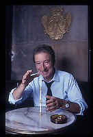 Writer Sebastien Japrisot photographed for Paris-Match in 1987.