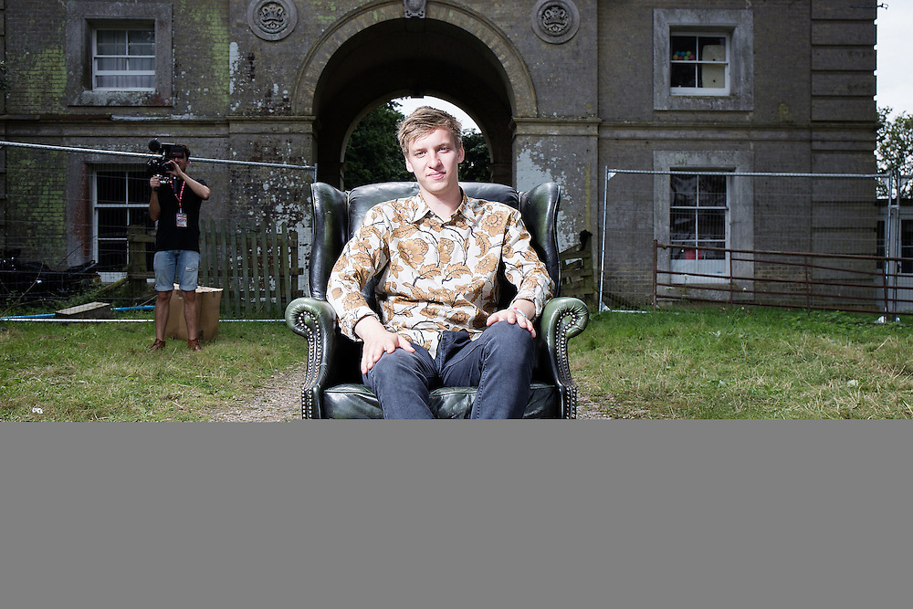 George Ezra Portrait at Latitude festival onSunday July 20, 2014.<br /> <br /> Photos by Ki Price