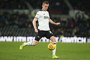 Derby County midfielder Andy King during the EFL Sky Bet Championship match between Derby County and Millwall at the Pride Park, Derby, England on 20 February 2019.