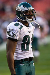 Philadelphia Eagles wide receiver Jason Avant (81).  The Washington Redskins defeated the Philadelphia Eagles 10-3 in an NFL football game held at Fedex Field in Landover, Maryland on Sunday, December 21, 2008.