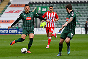 Antoni Sarcevic (7) of Plymouth Argyle on the attack during the EFL Sky Bet League 2 match between Plymouth Argyle and Accrington Stanley at Home Park, Plymouth, England on 1 April 2017. Photo by Graham Hunt.