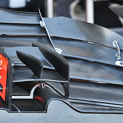 Haas F1 Team front wing.<br /> <br /> Round 1 - 2nd day of the 2017 Formula 1 Rolex Australian Grand Prix at The circuit of Albert Park, Melbourne, Victoria on the 24th March 2017.<br /> Wayne Neal | SportPix.org.uk