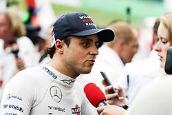 Felipe Massa (BRA) Williams with the media.<br /> 08.10.2016. Formula 1 World Championship, Rd 17, Japanese Grand Prix, Suzuka, Japan, Qualifying Day.<br />  Copyright: Bearne / XPB Images / action press